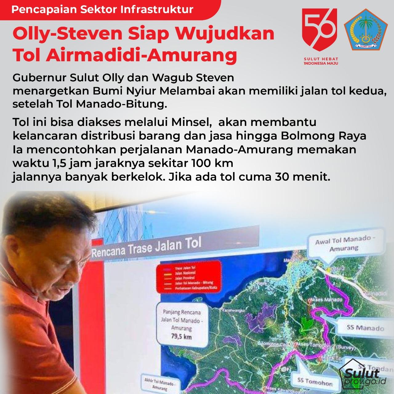 Pencapaian Sektor Infrastruktur Gubernur Sulawesi Utara Olly Dondokambey dan Wakil Gubernur Sulawesi Utara Steven Kandouw