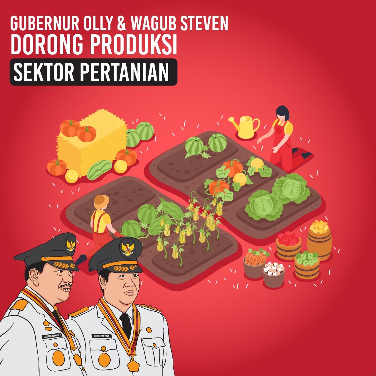 Pencapaian Di Sektor Pertanian Gubernur Sulawesi Utara Olly Dondokambey dan Wakil Gubernur Sulawesi Utara Steven Kandouw