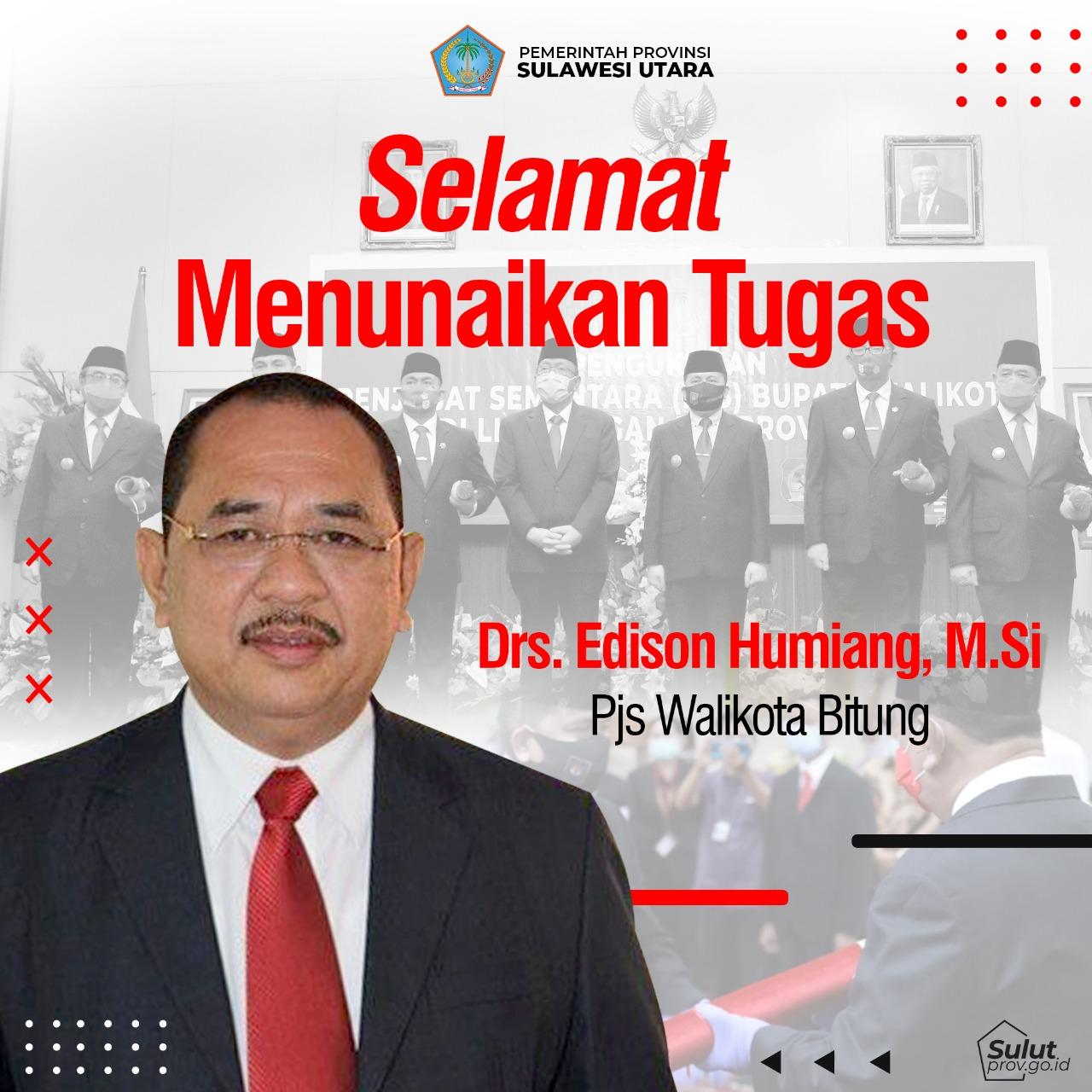 Selamat Menunaikan Tugas PJS Walikota Bitung