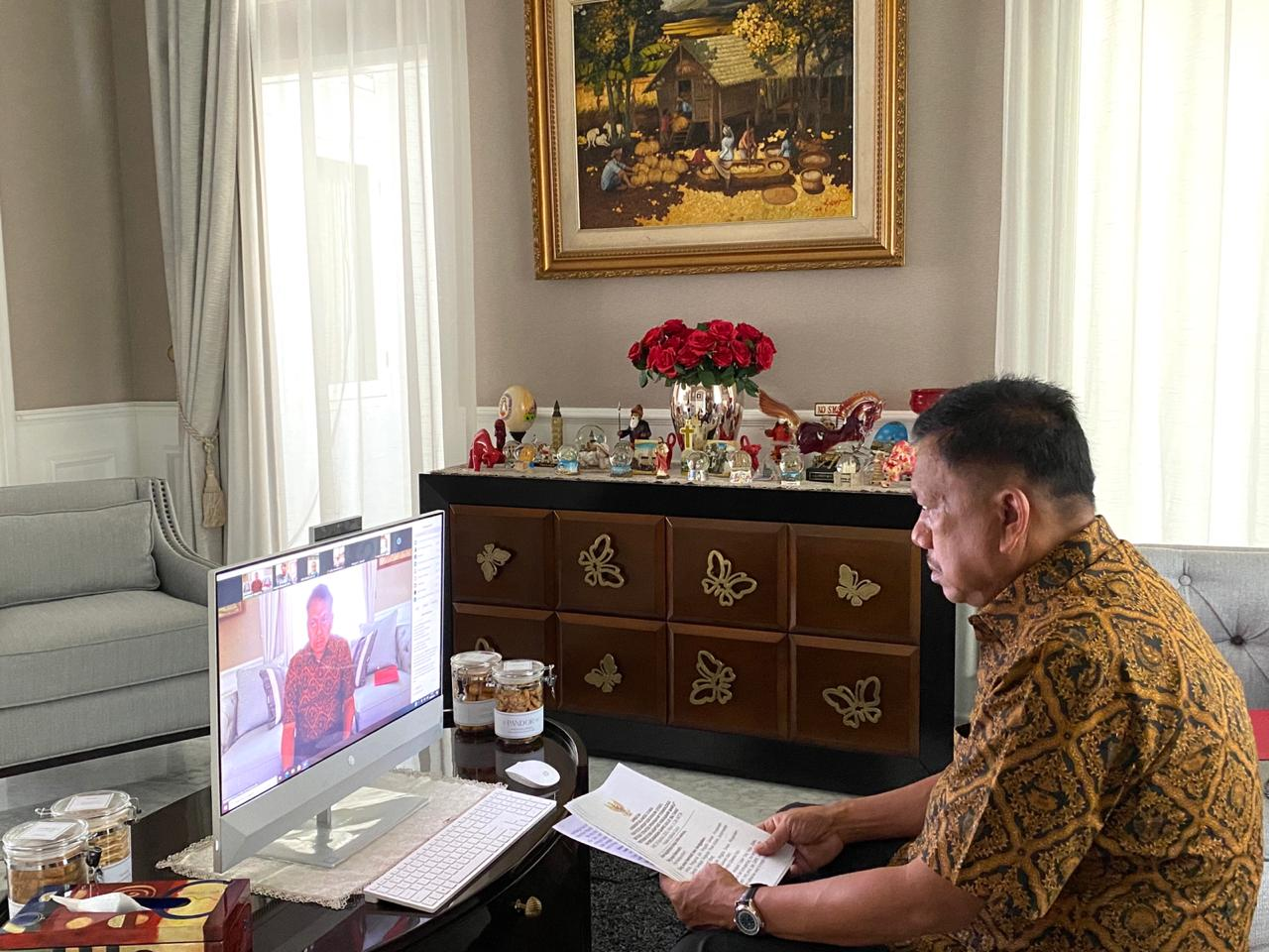 Gubernur Sulut Olly Dondokambey Membuka Secara Virtual FGD Strategi Penerapan Teknologi Pertanian